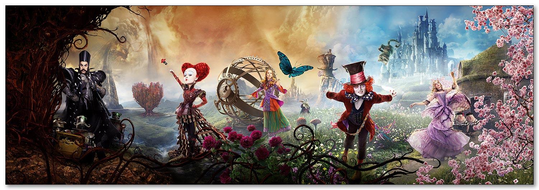 Магнитная картина Alice Through the Looking Glass / Алиса в Зазеркалье